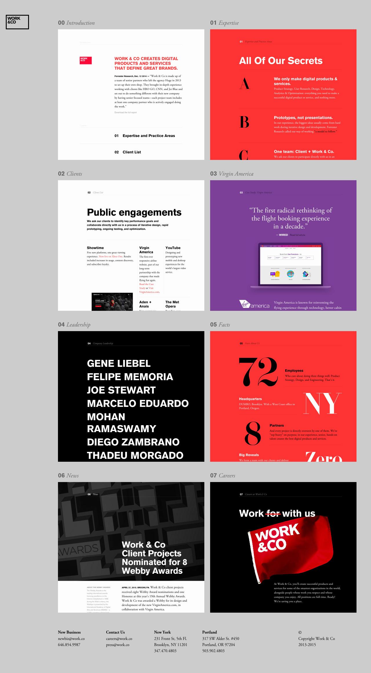Work & Co Website Screenshot