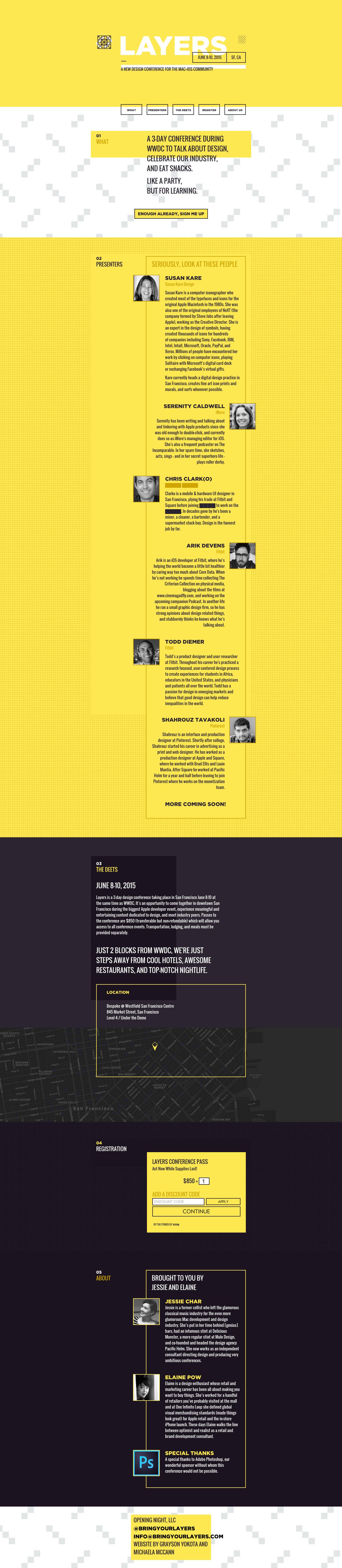 Layers Website Screenshot