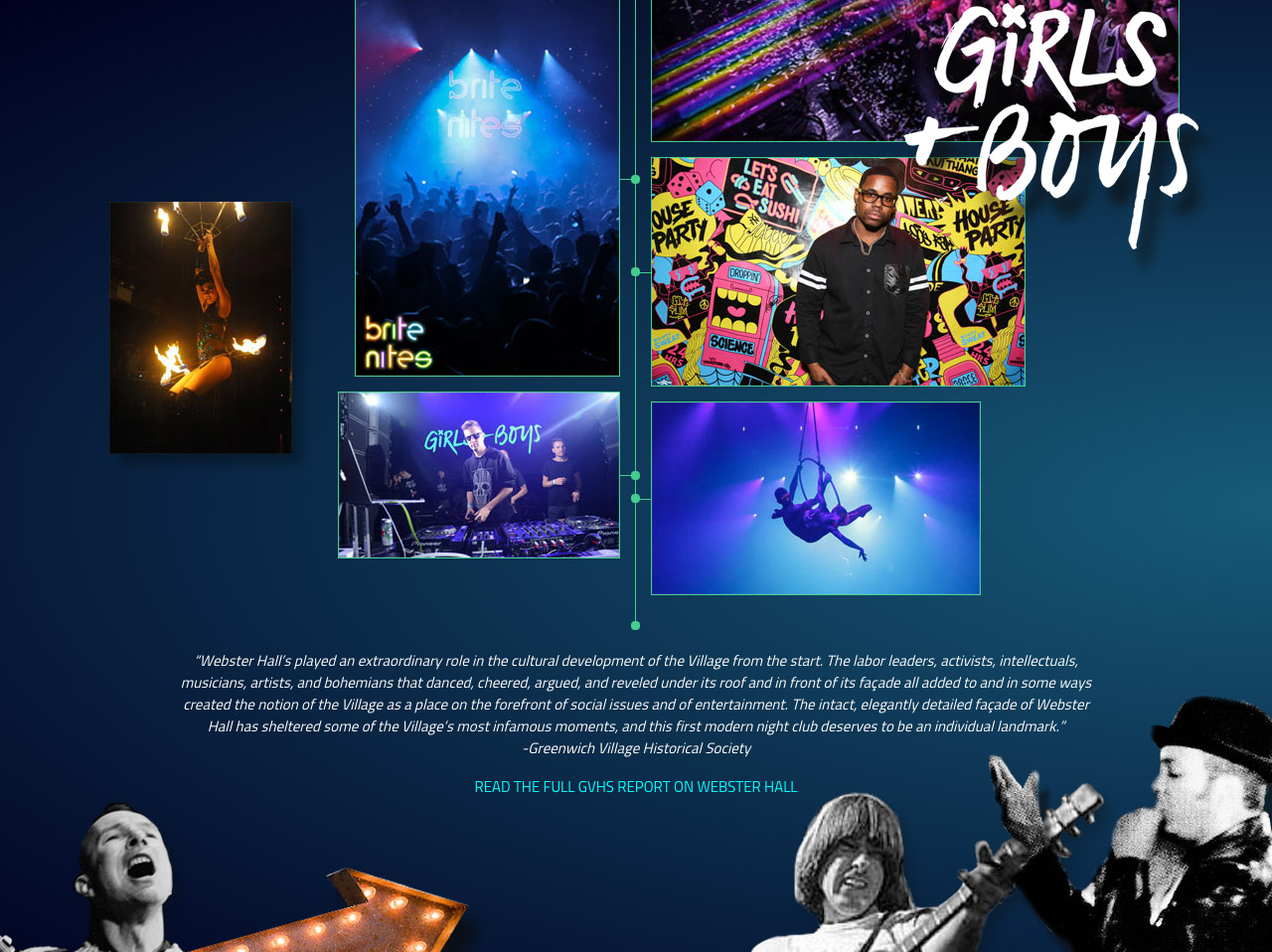 Webster Hall Timeline Website Screenshot