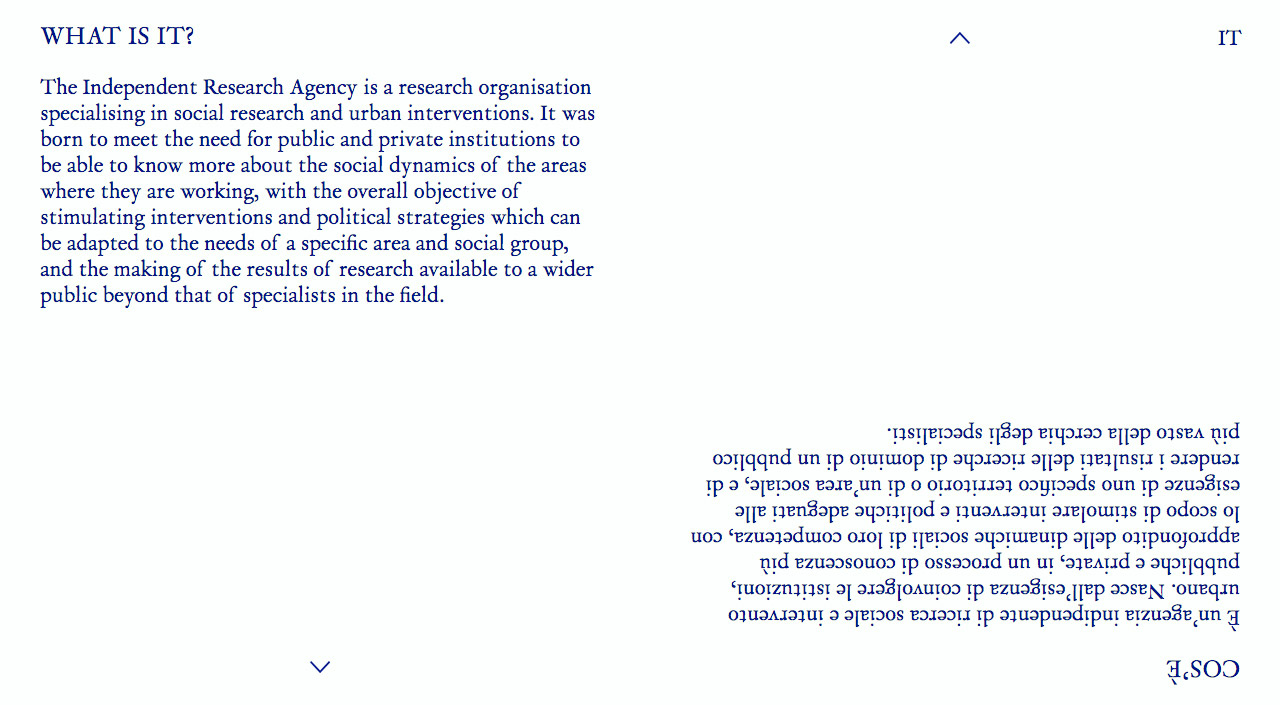 Agenzia Indipendente Di Ricerca Website Screenshot