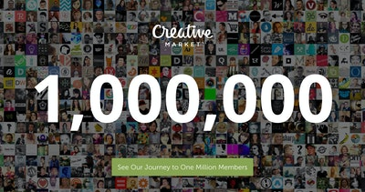 One Million Members – Creative Market Thumbnail Preview