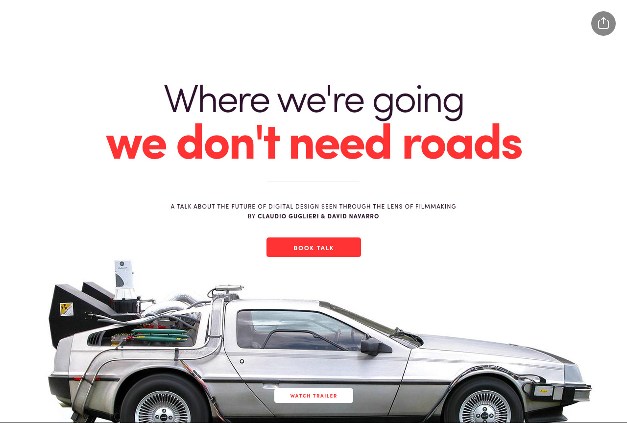 Roads? We Don't Need Roads! Website Screenshot