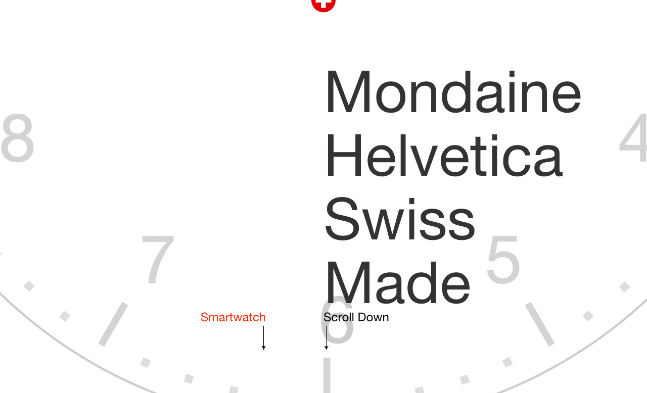 Mondaine Helvetica Website Screenshot