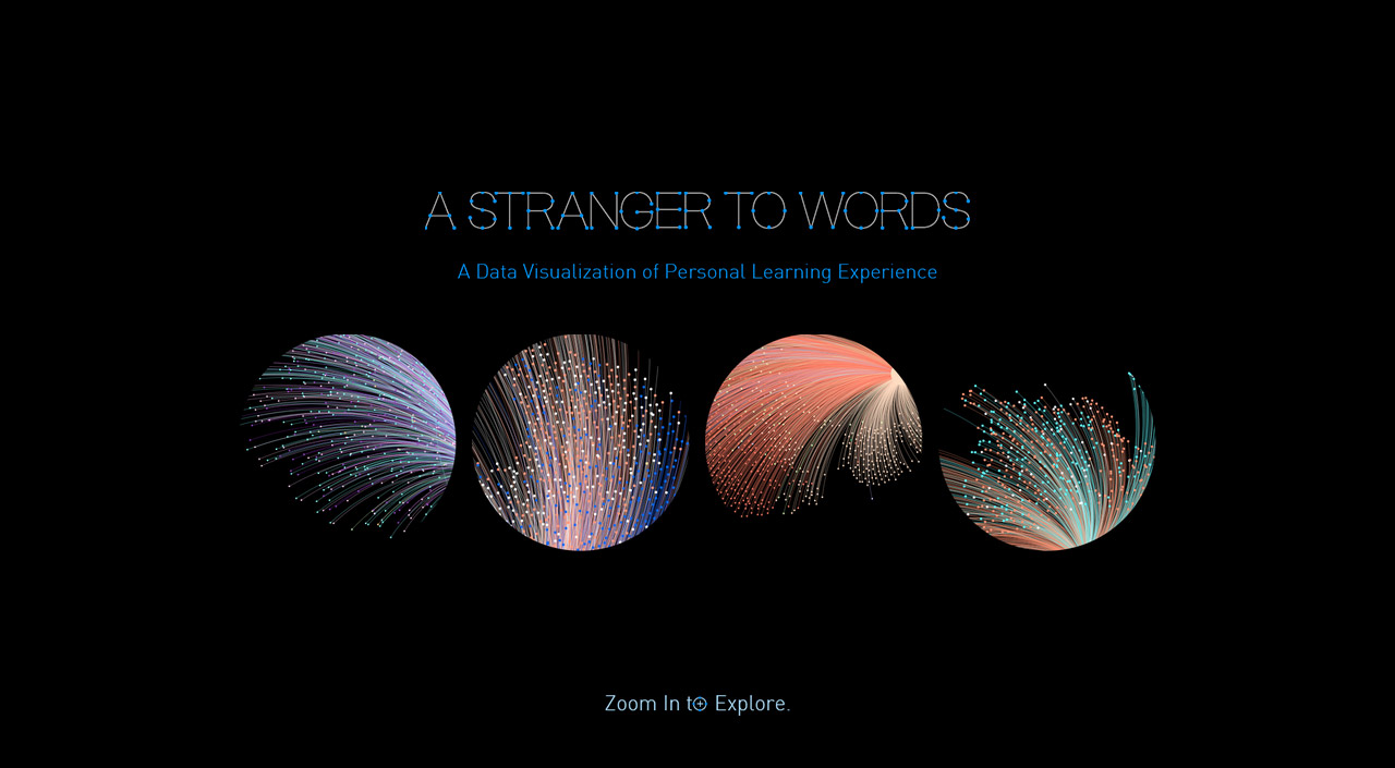A Stranger to Words Website Screenshot