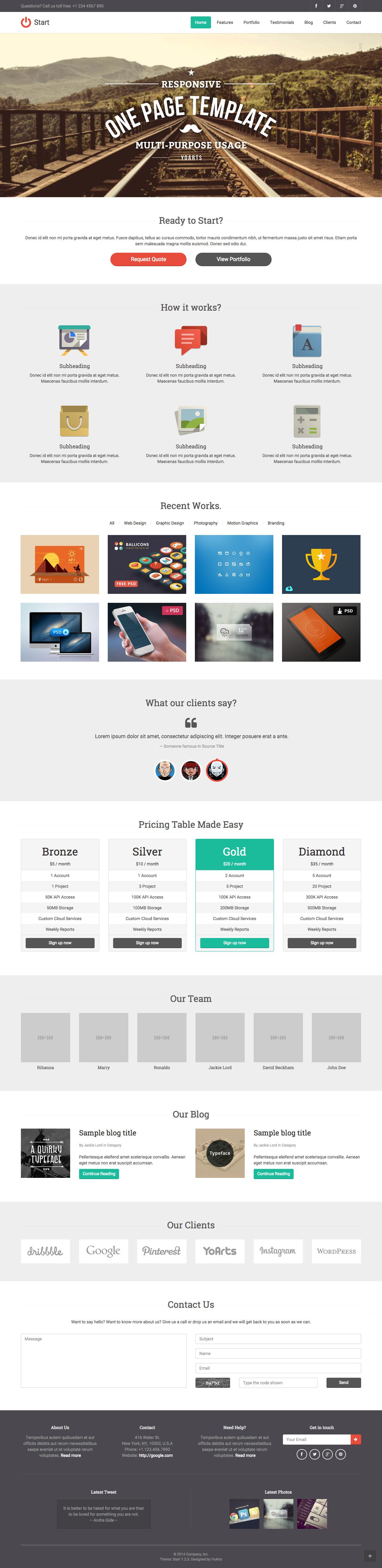 Start Website Screenshot