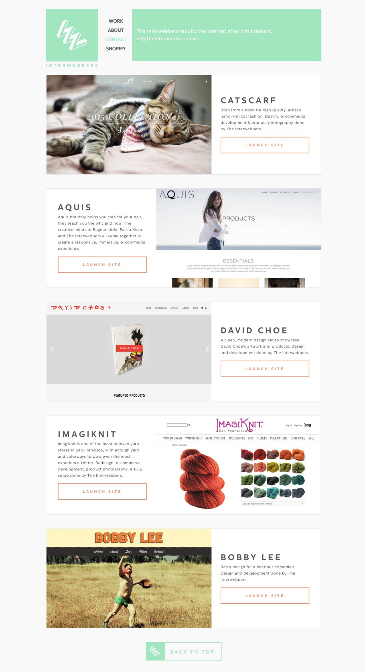 The Interwebbers Website Screenshot