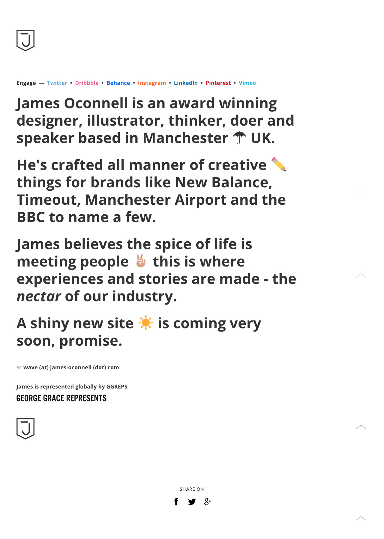 James Oconnell Website Screenshot