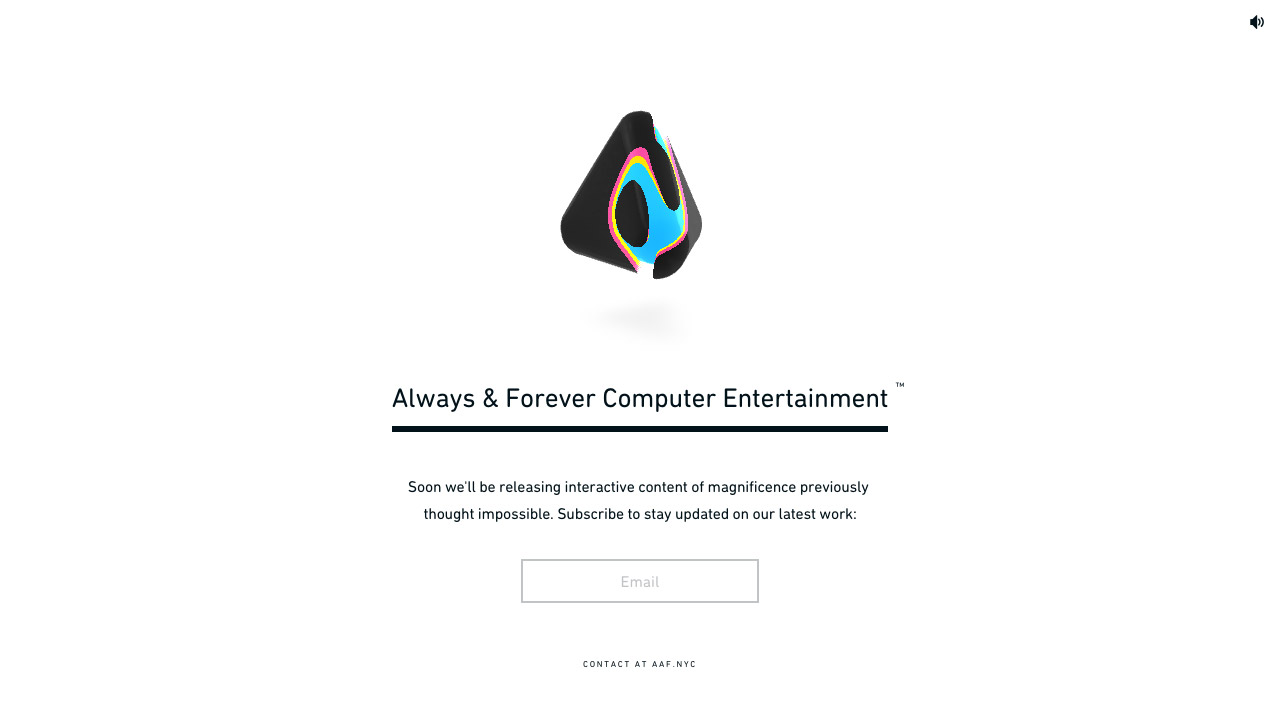 Always & Forever Computer Entertainment Website Screenshot