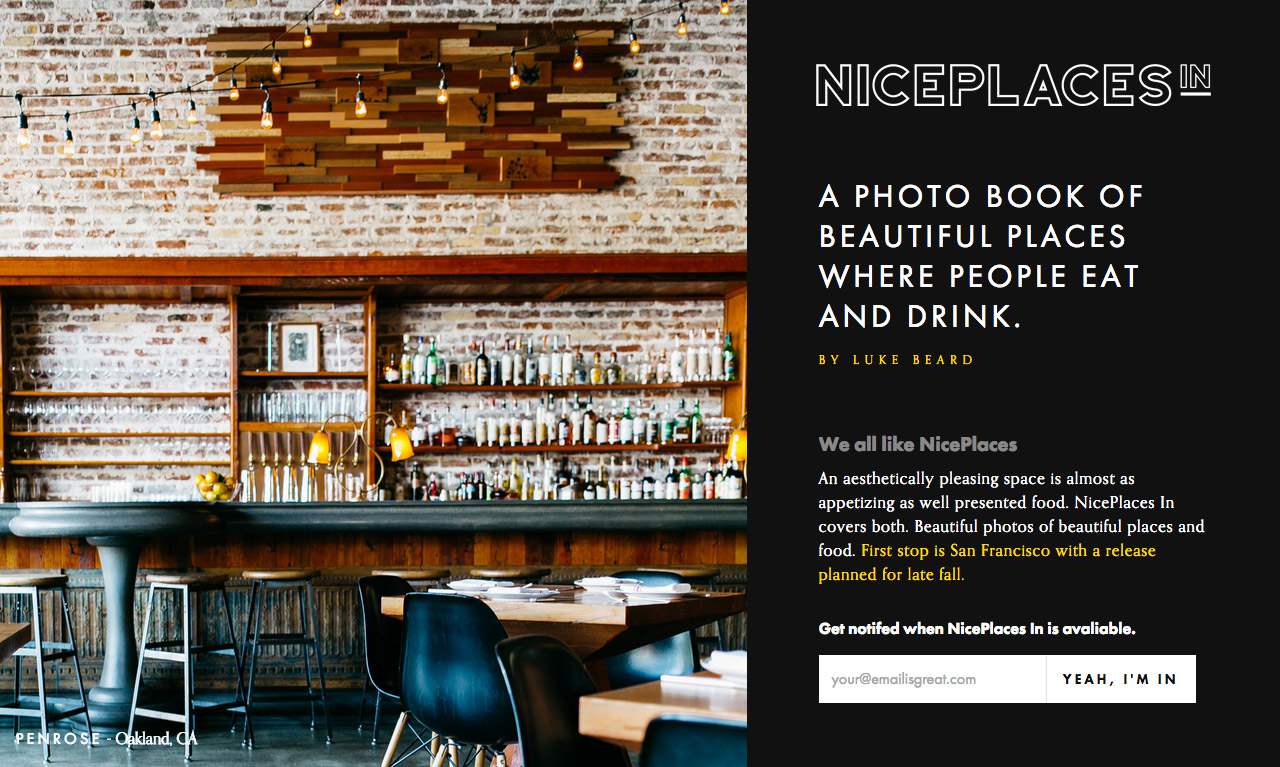 NicePlaces In Website Screenshot