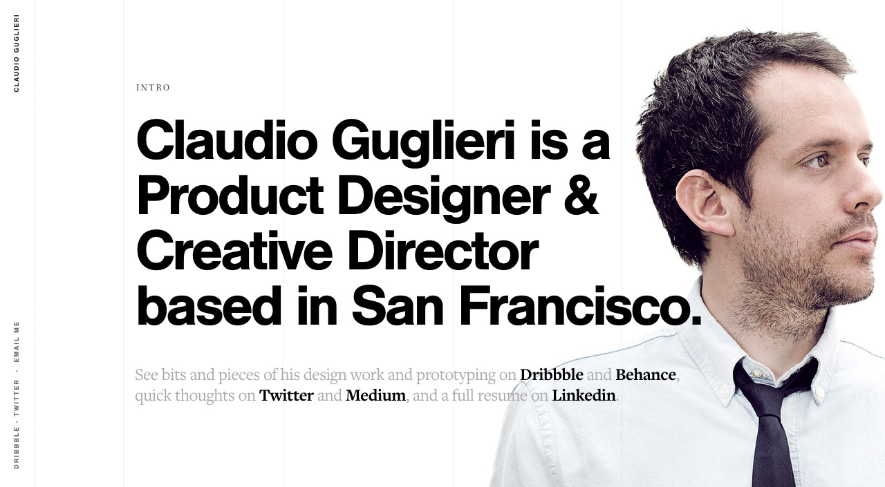 Claudio Guglieri Website Screenshot
