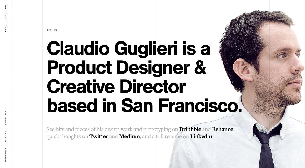 Claudio Guglieri Website Screenshot