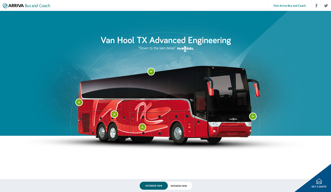 Van Hool TX Range Website Screenshot