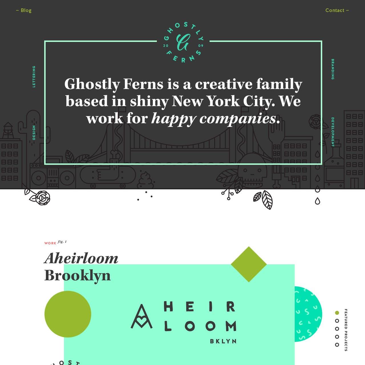 Ghostly Ferns Website Screenshot