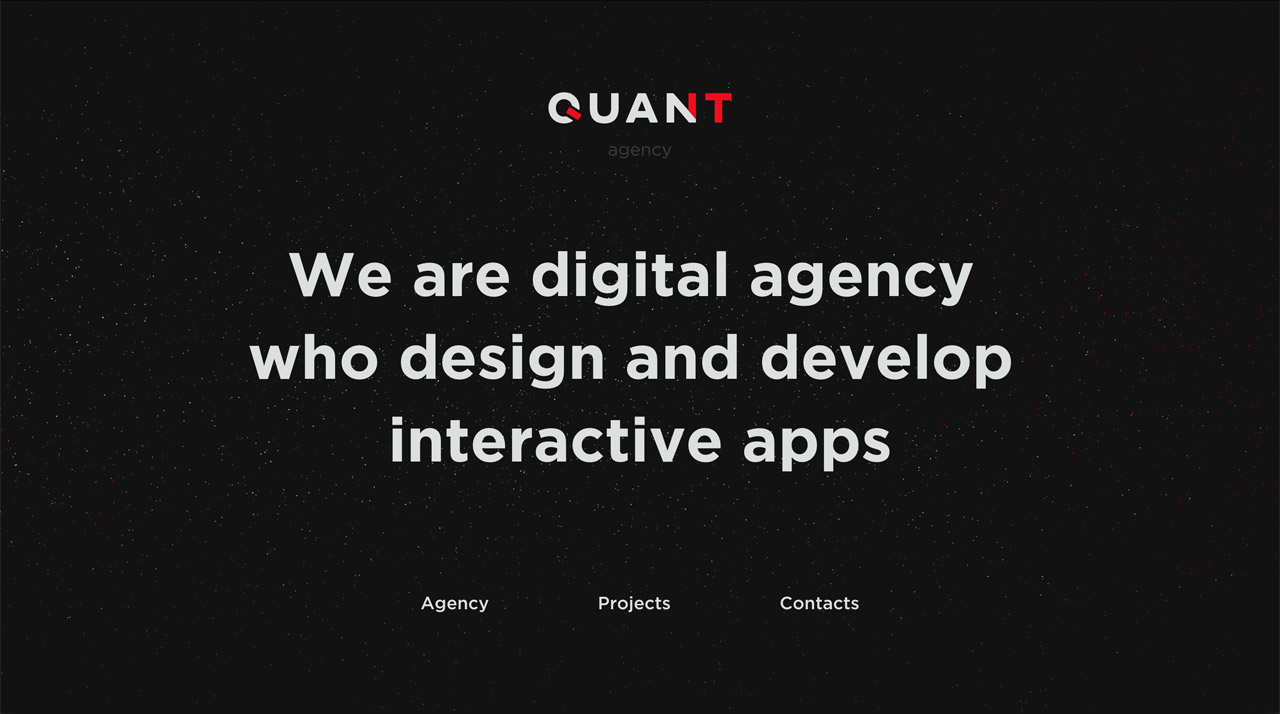 The Quant Agency Website Screenshot