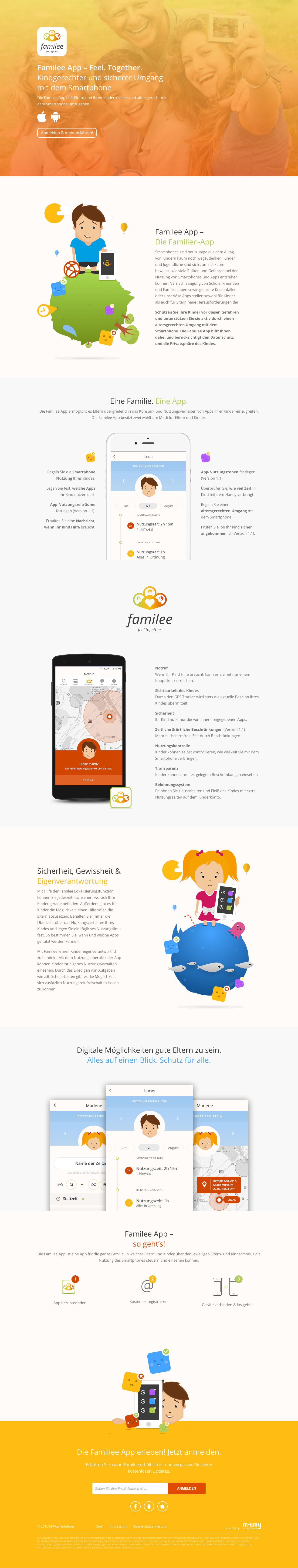 familee App Website Screenshot