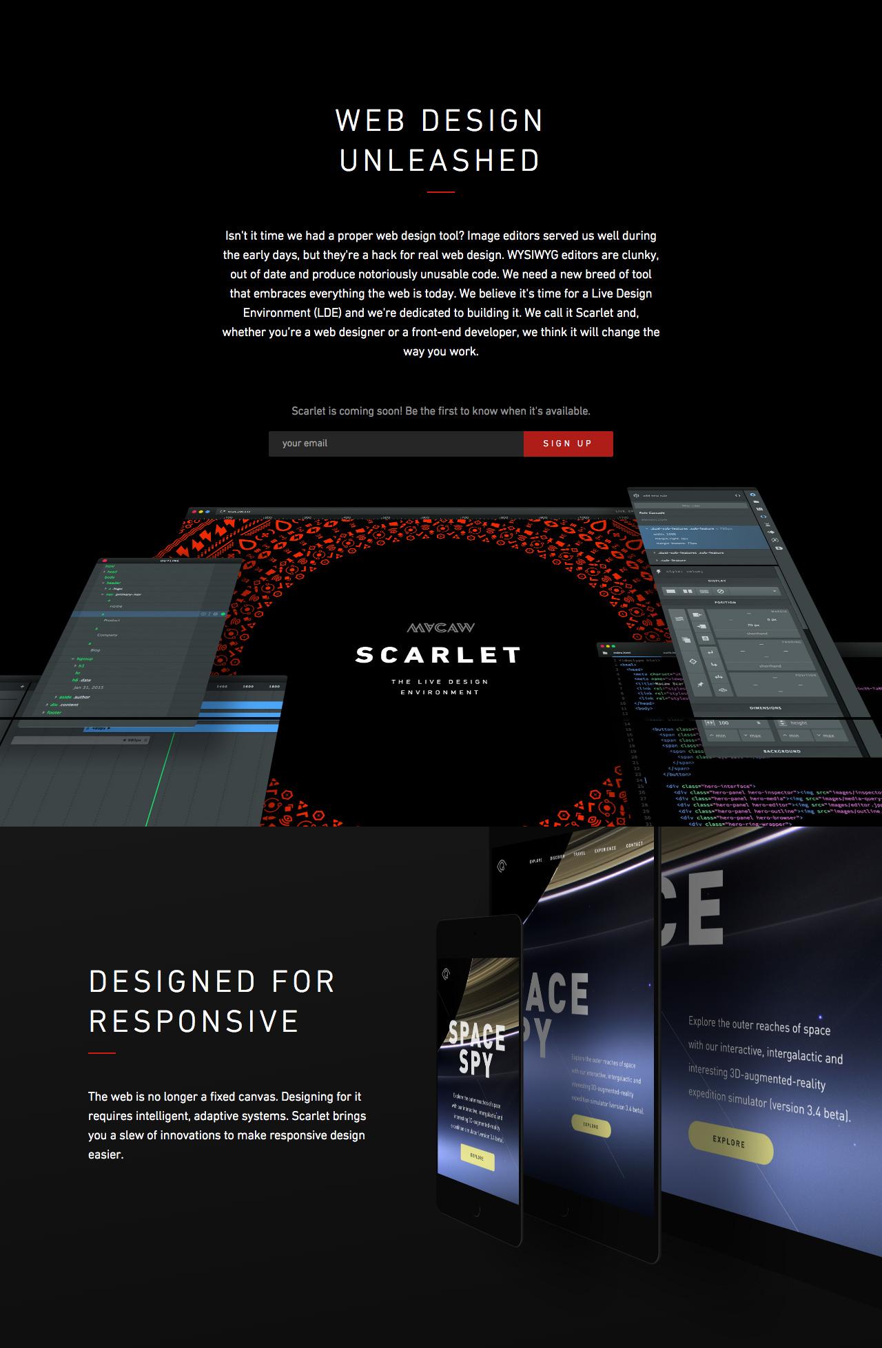 Macaw Scarlet Website Screenshot