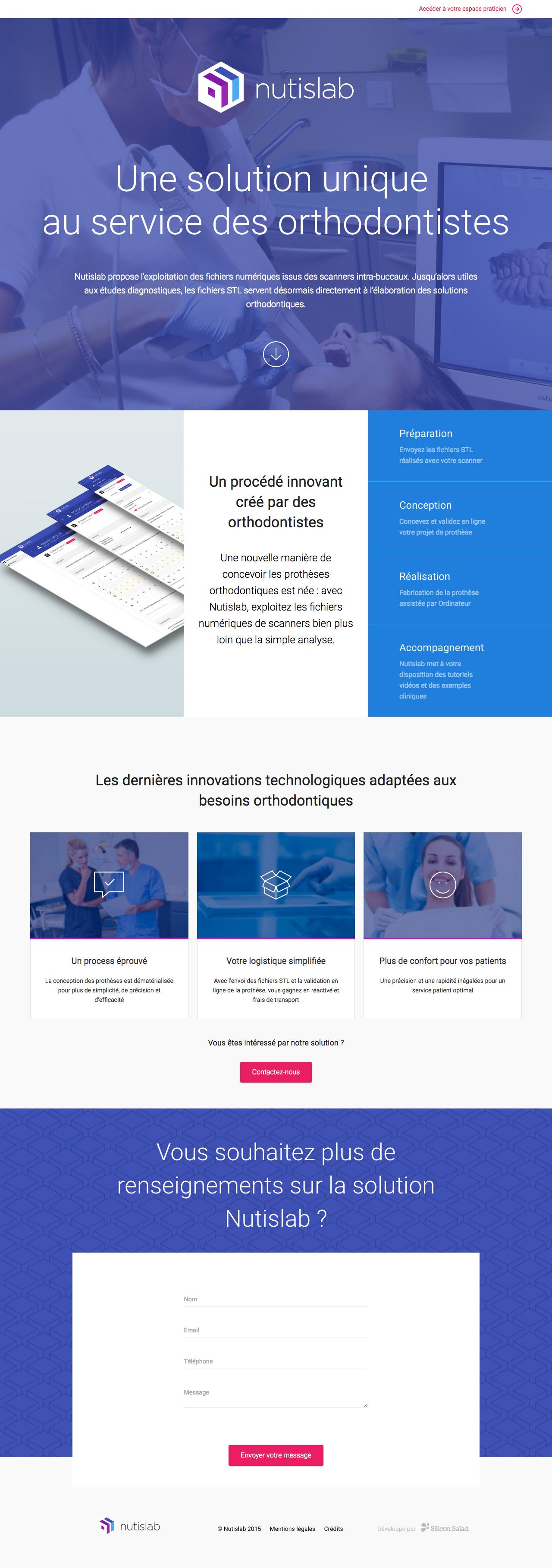 Nutislab Website Screenshot