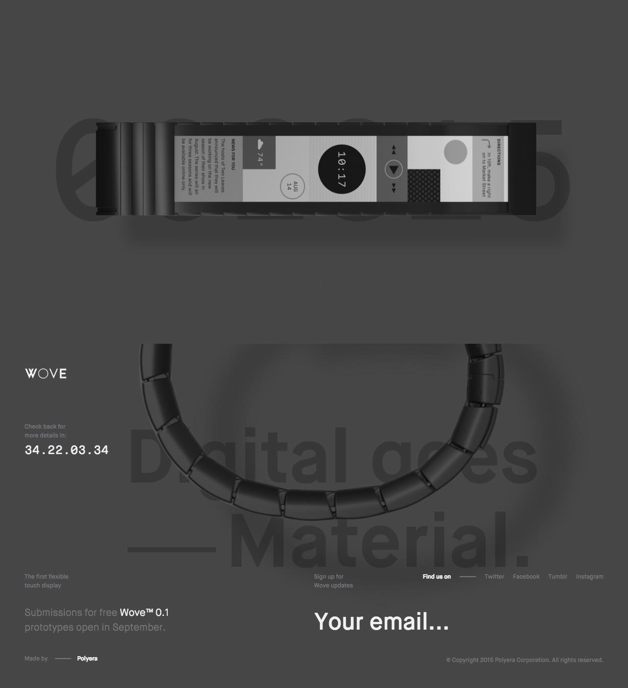 Wove Website Screenshot