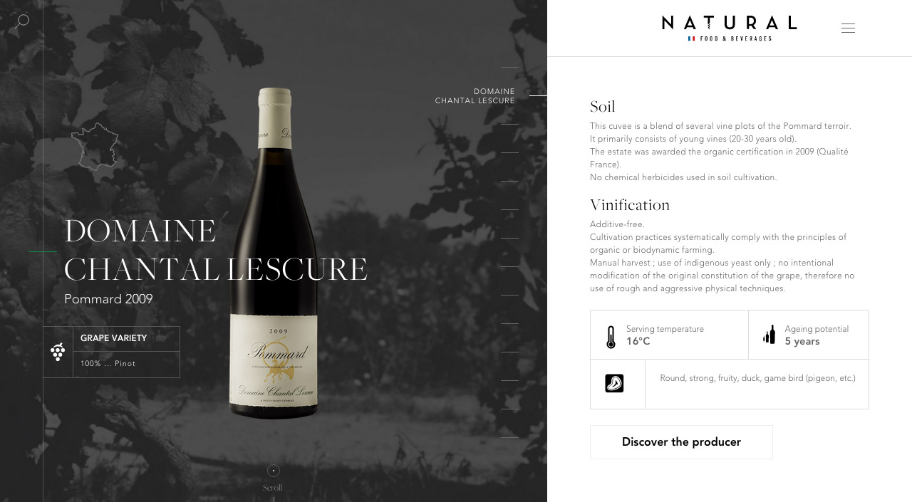 Natural Food & Beverages Website Screenshot