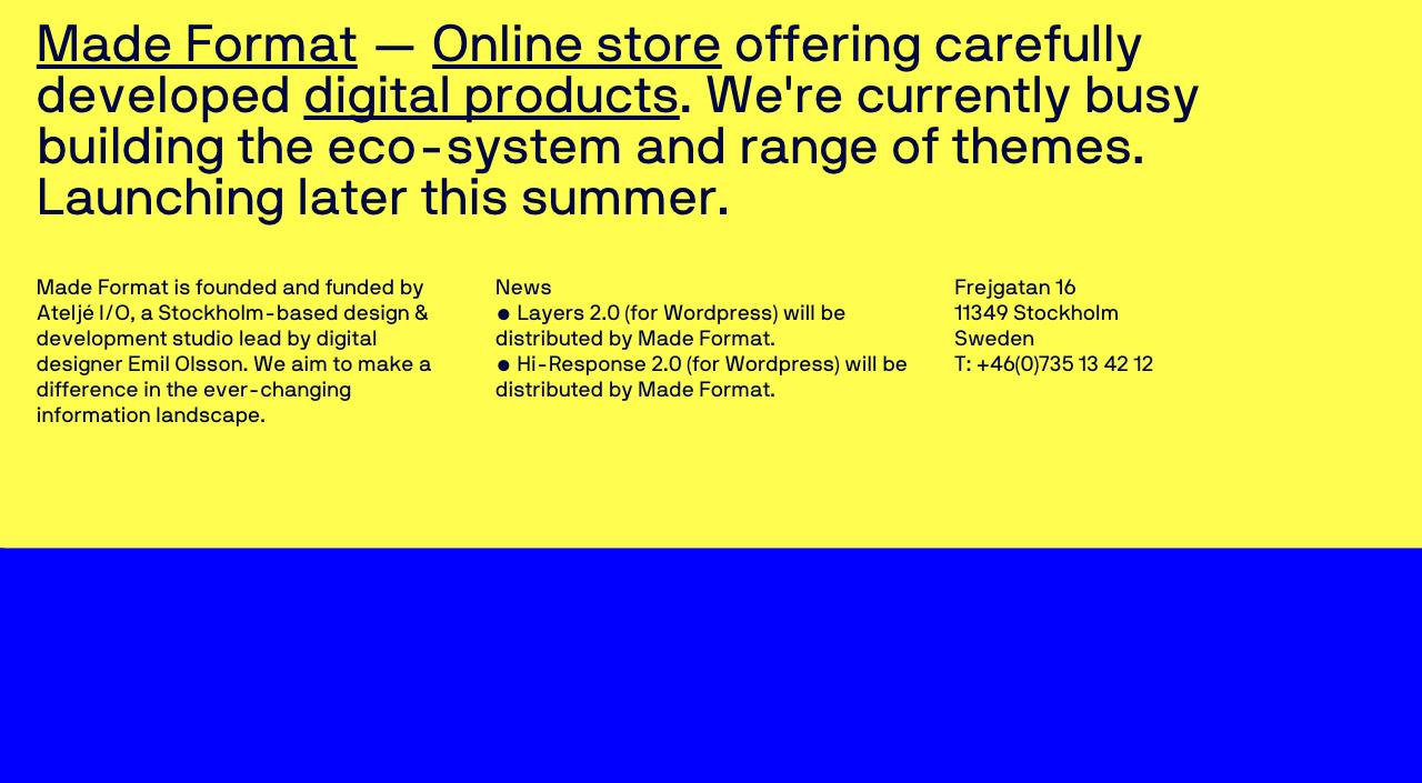 Made format Website Screenshot