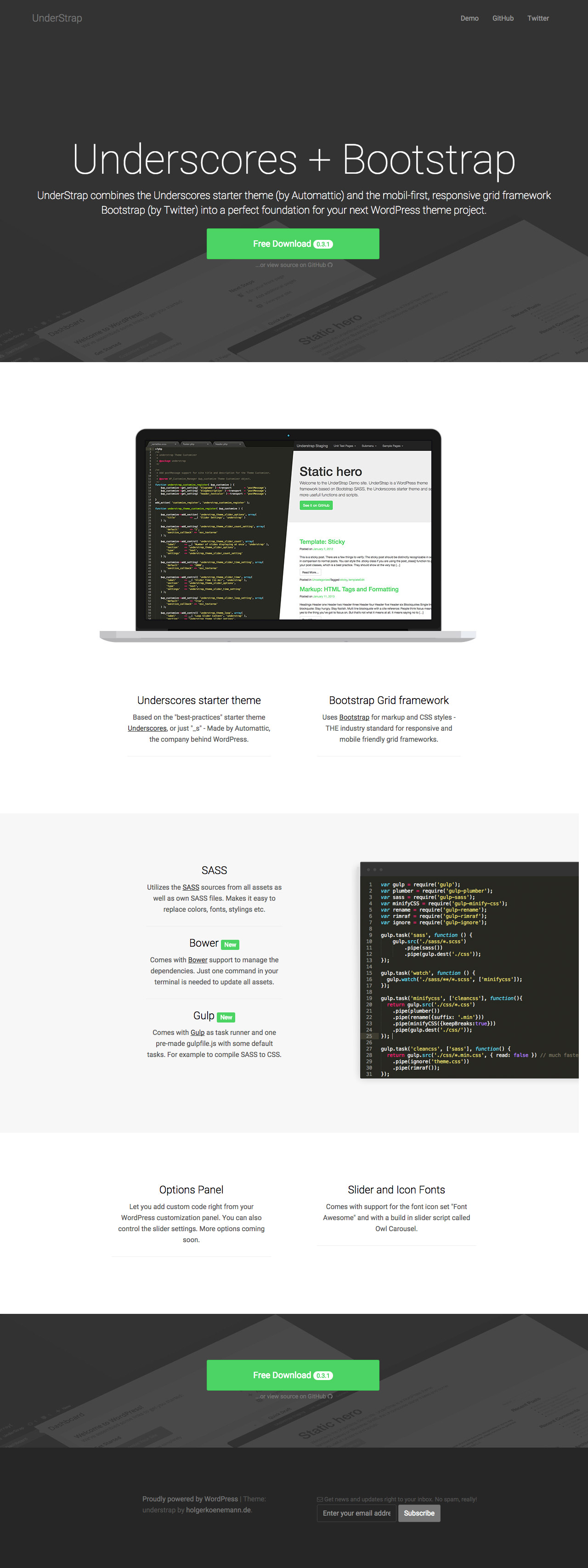 UnderStrap Website Screenshot