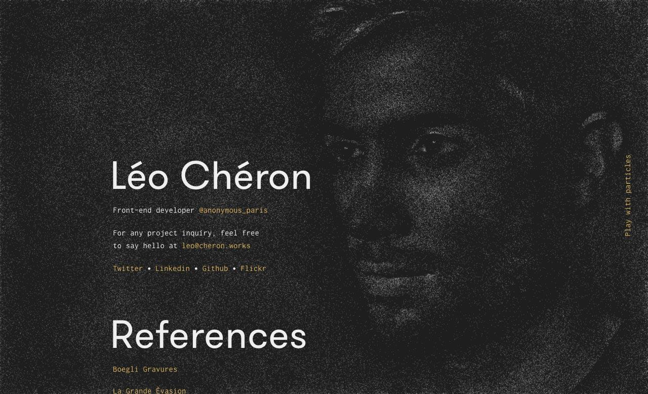 Léo Chéron Website Screenshot