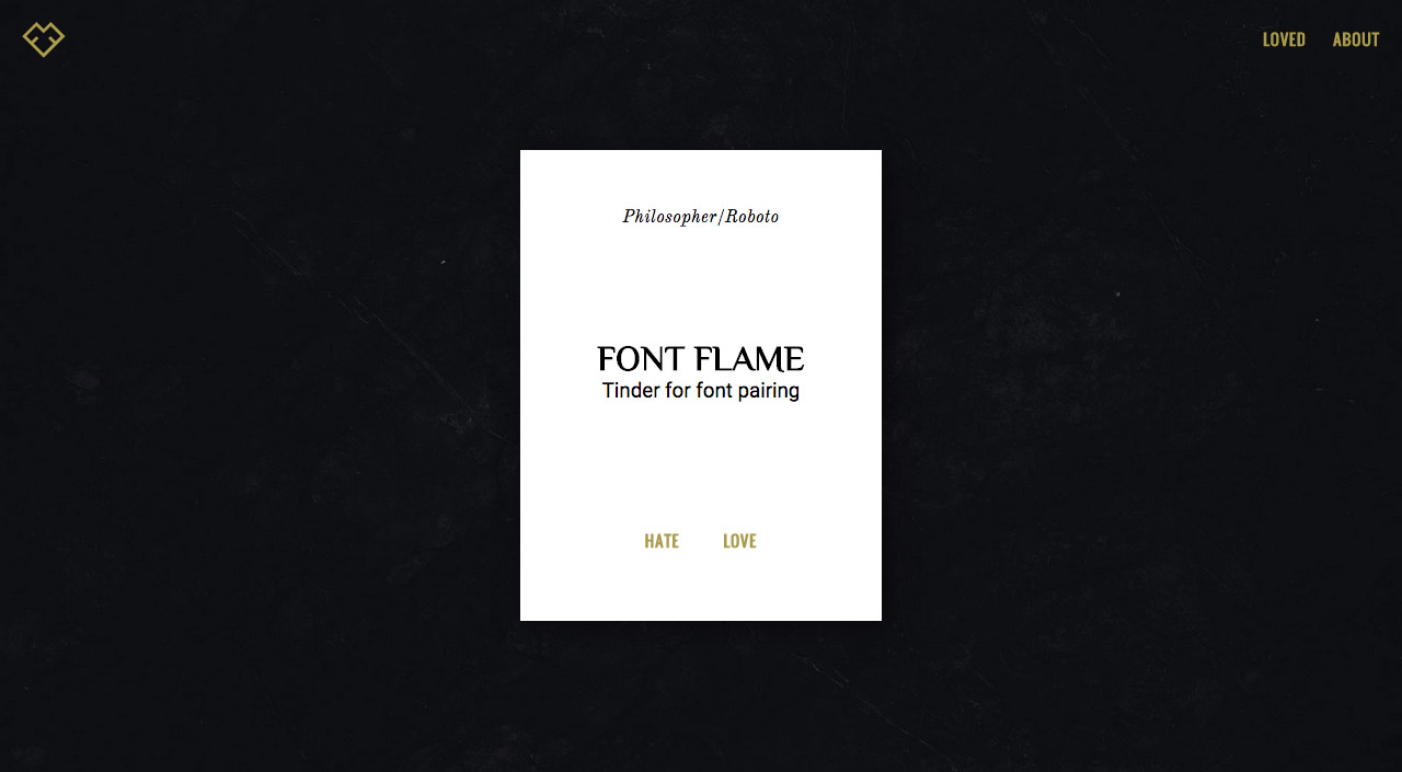 Font Flame Website Screenshot