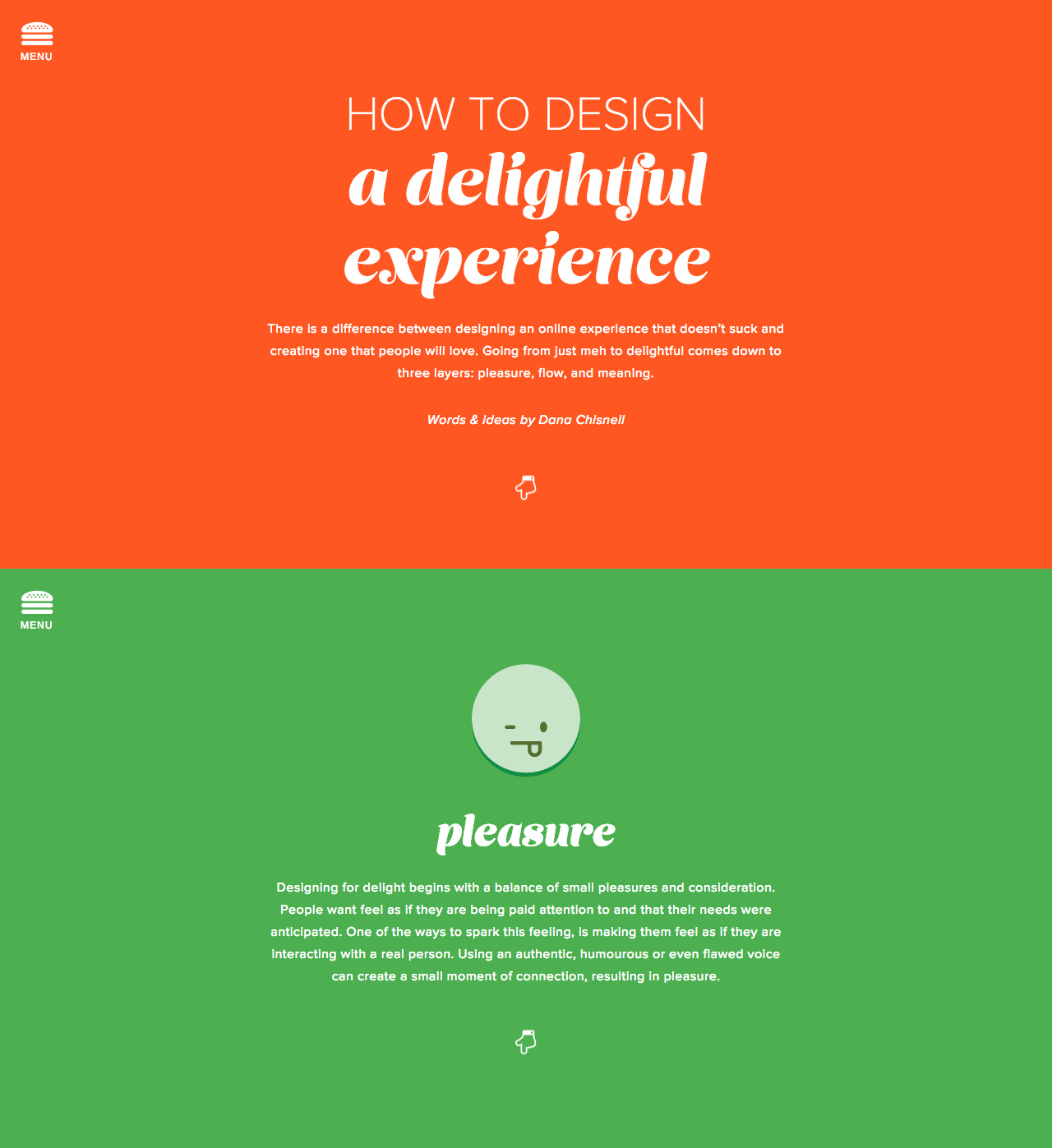 How to Design a Delightful Experience Website Screenshot