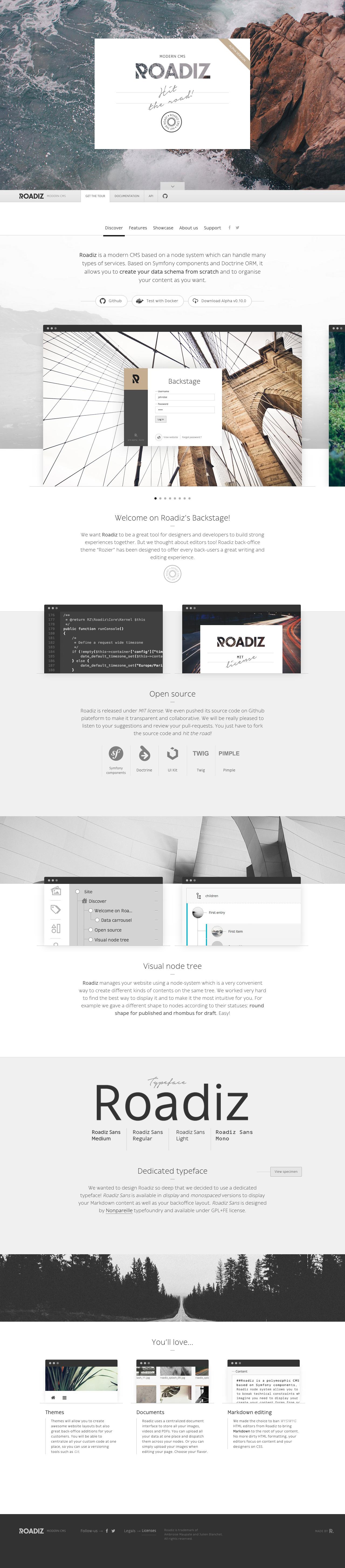 Roadiz Website Screenshot