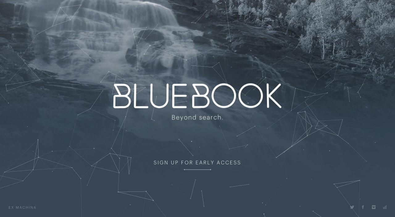 BlueBook Website Screenshot