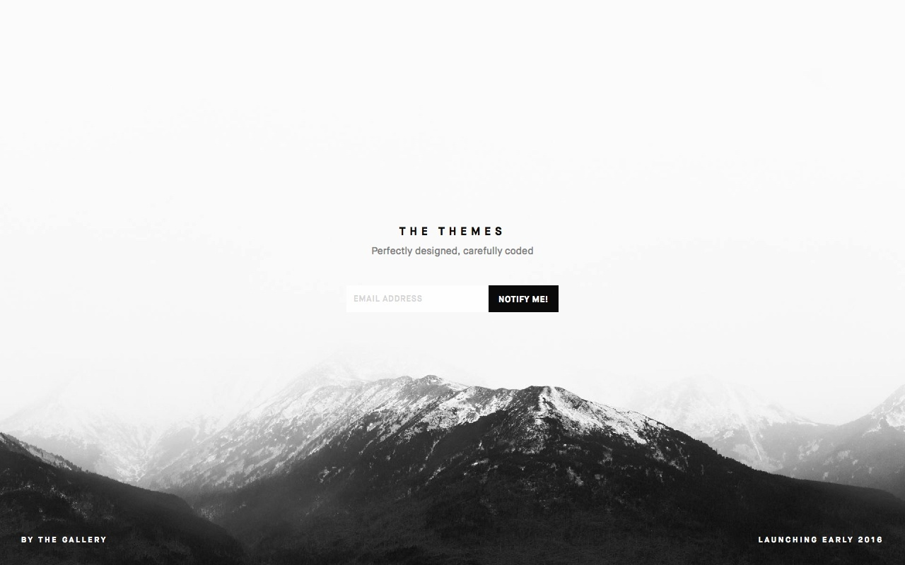 The Themes Website Screenshot