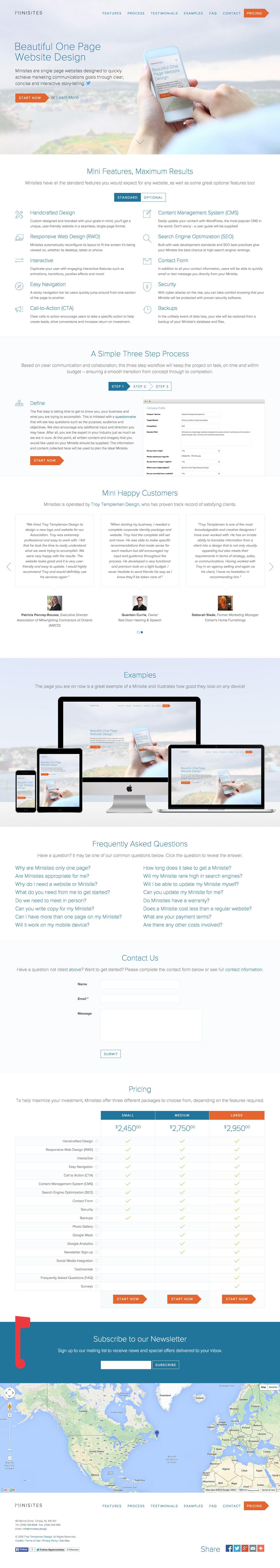 Minisites Website Screenshot