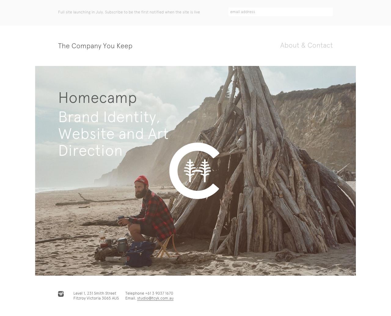The Company You Keep Website Screenshot