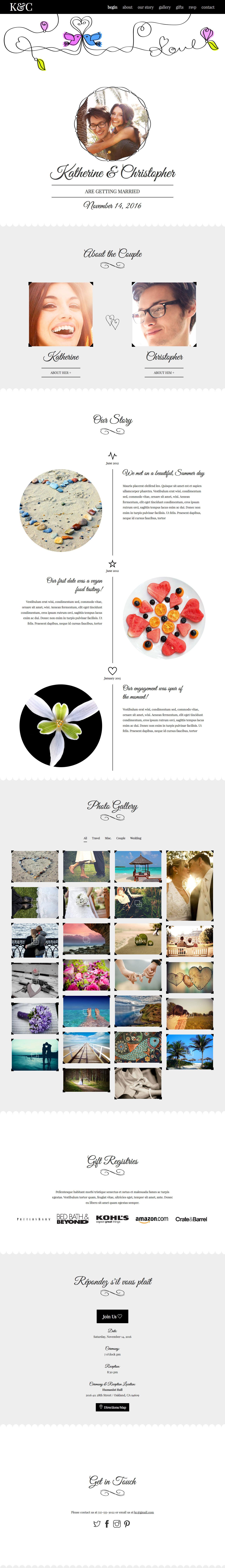 Swirly Love Website Screenshot