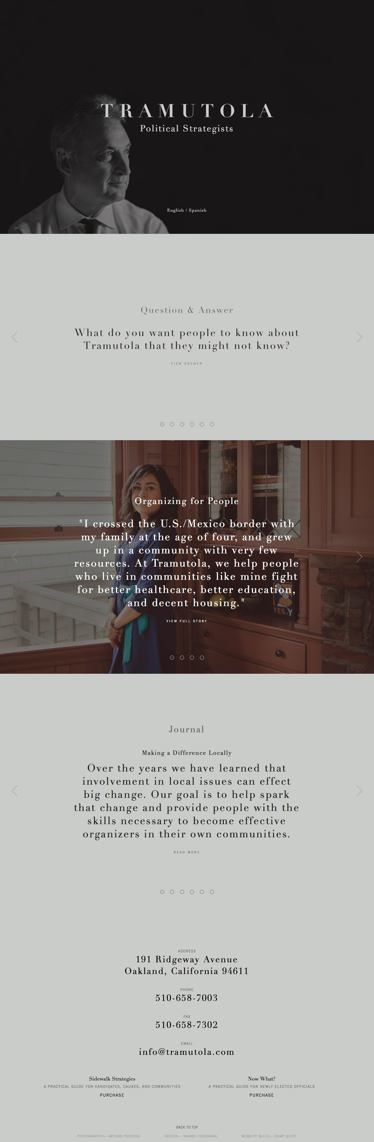 Tramutola Website Screenshot