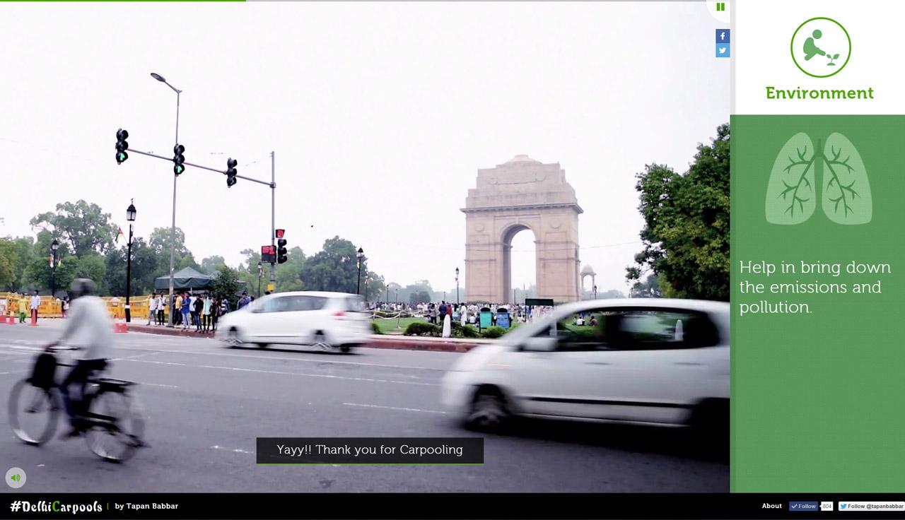 #DelhiCarpools Website Screenshot