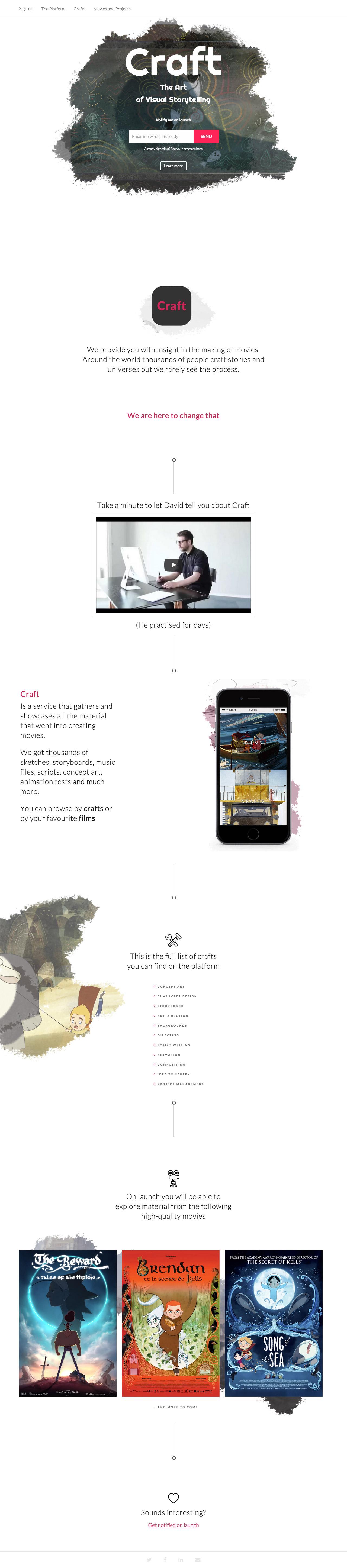 Craft Website Screenshot