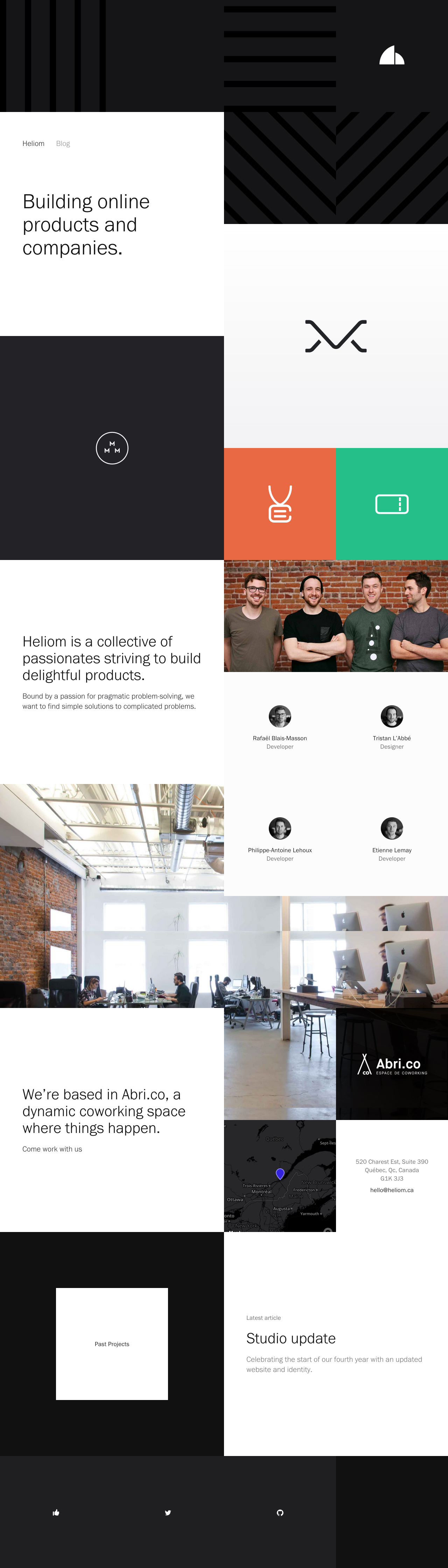 Heliom Website Screenshot