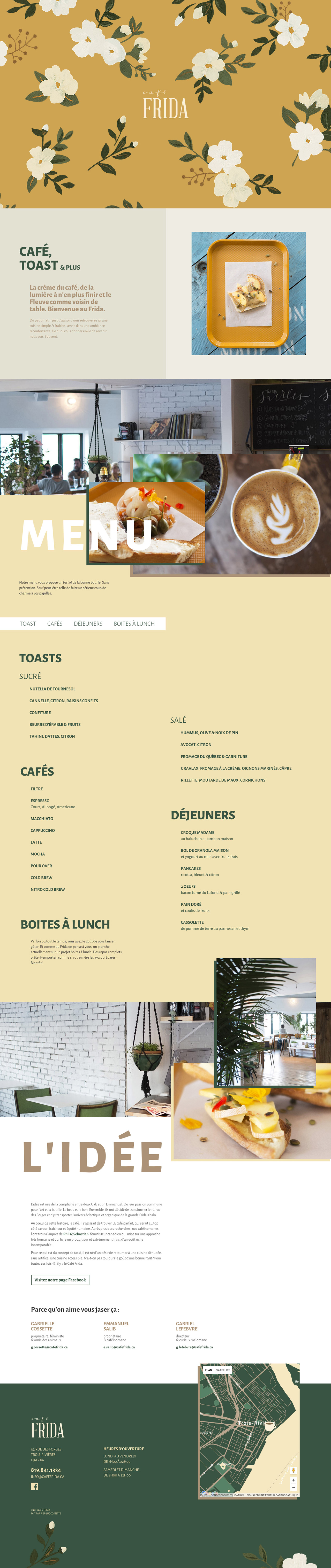 Café Frida Website Screenshot