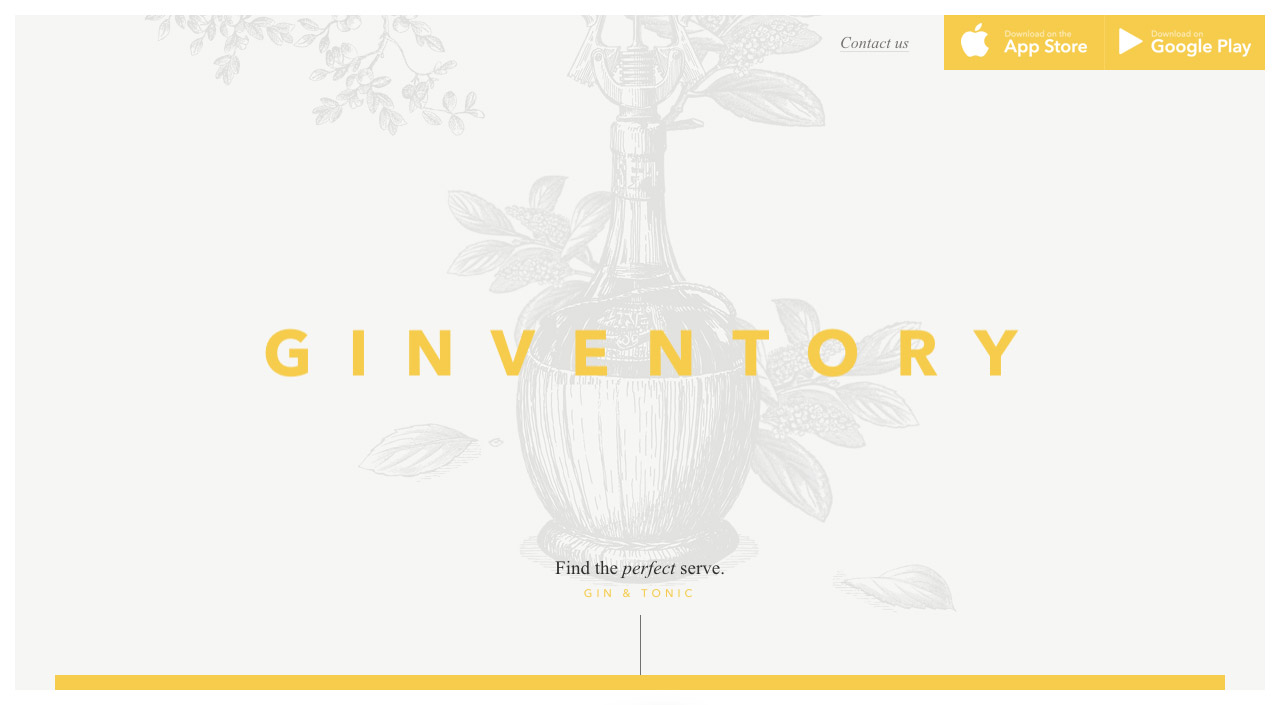 Ginventory Website Screenshot