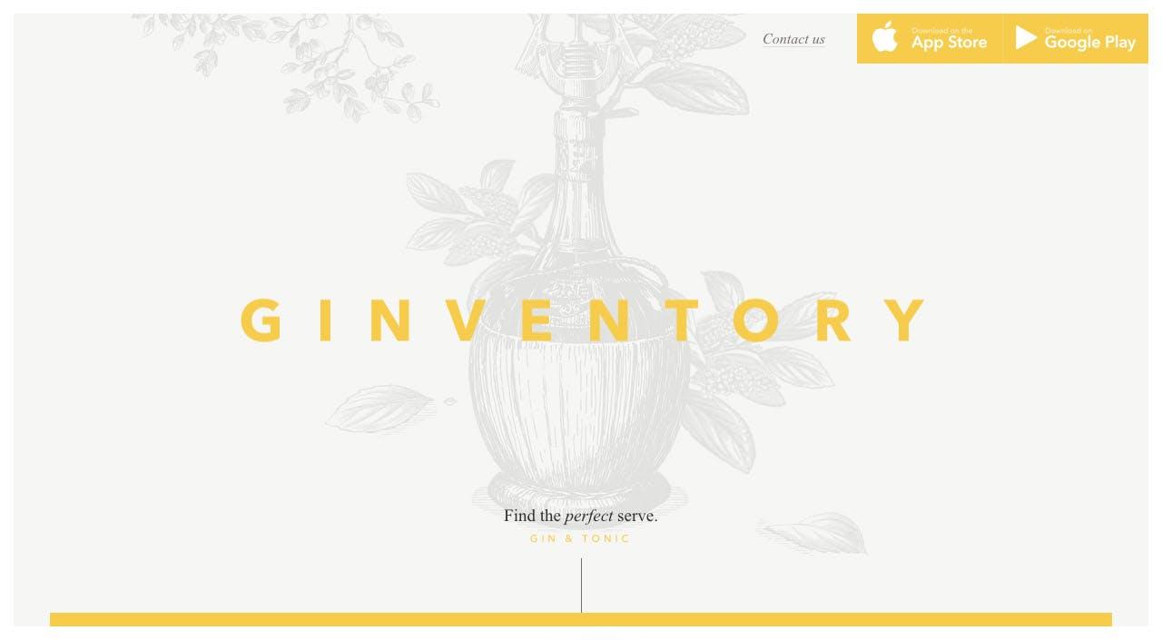Ginventory Website Screenshot