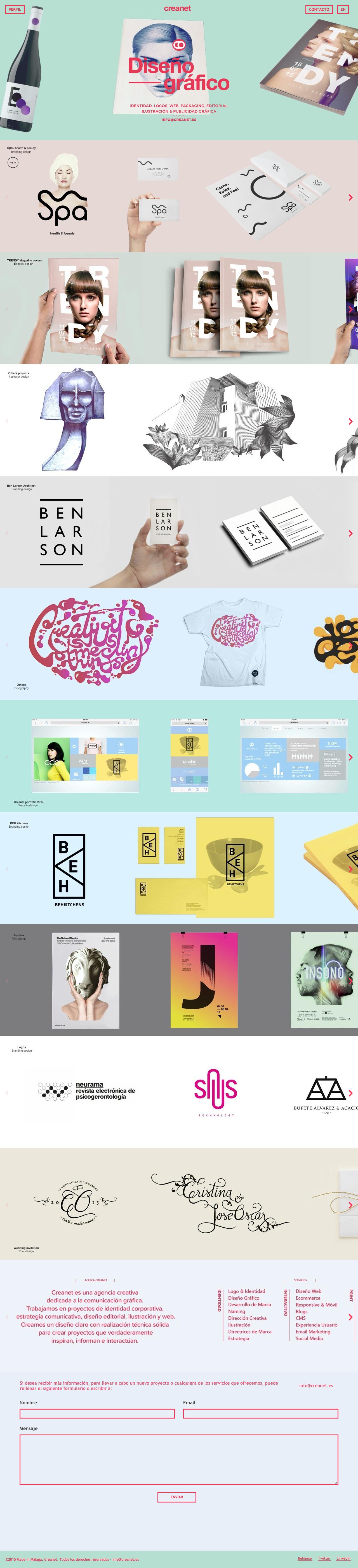 Creanet Website Screenshot