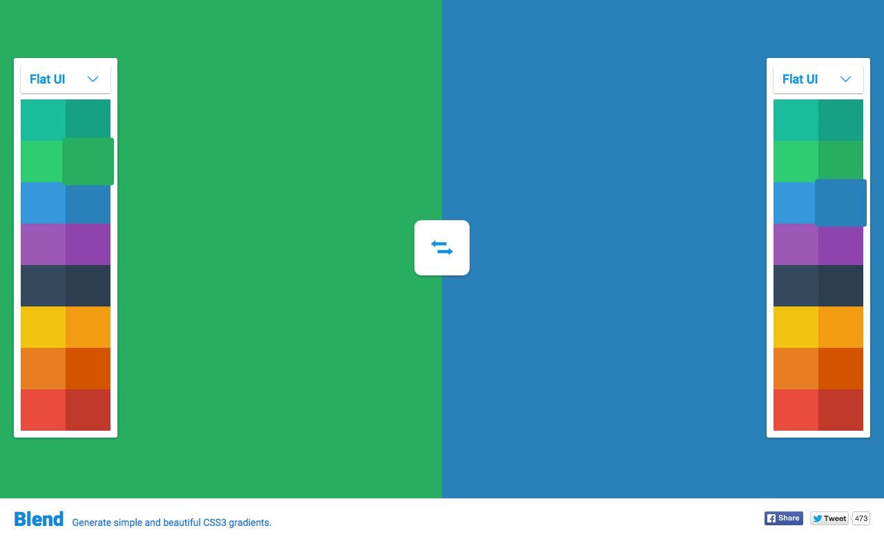 Blend Website Screenshot