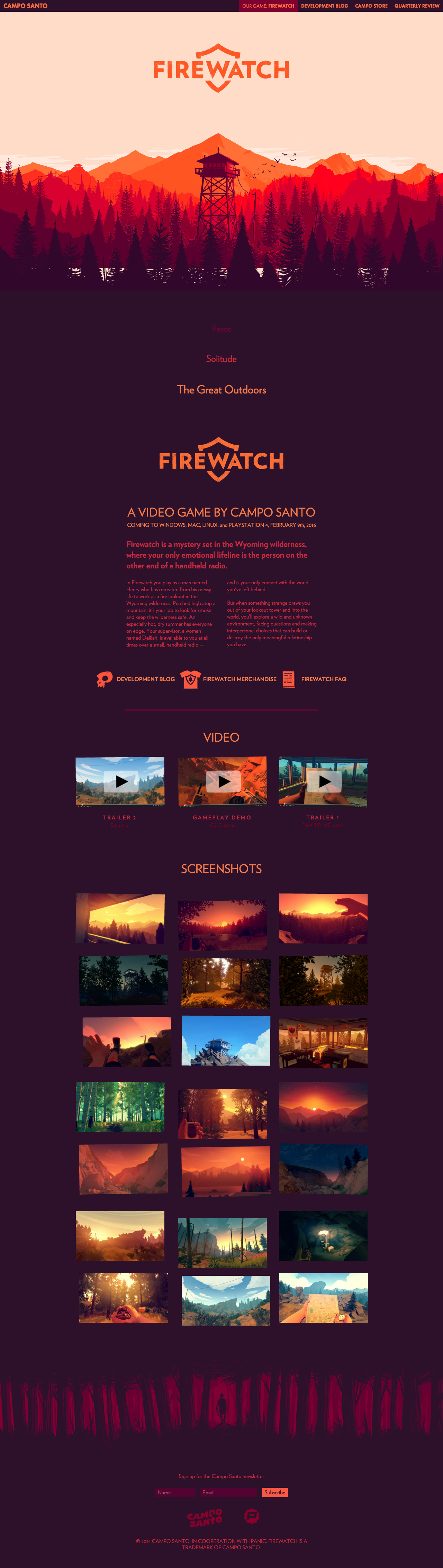 Firewatch Website Screenshot