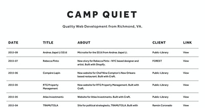 Camp Quiet Thumbnail Preview