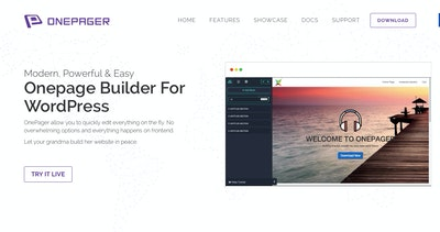 OnePage Builder Thumbnail Preview