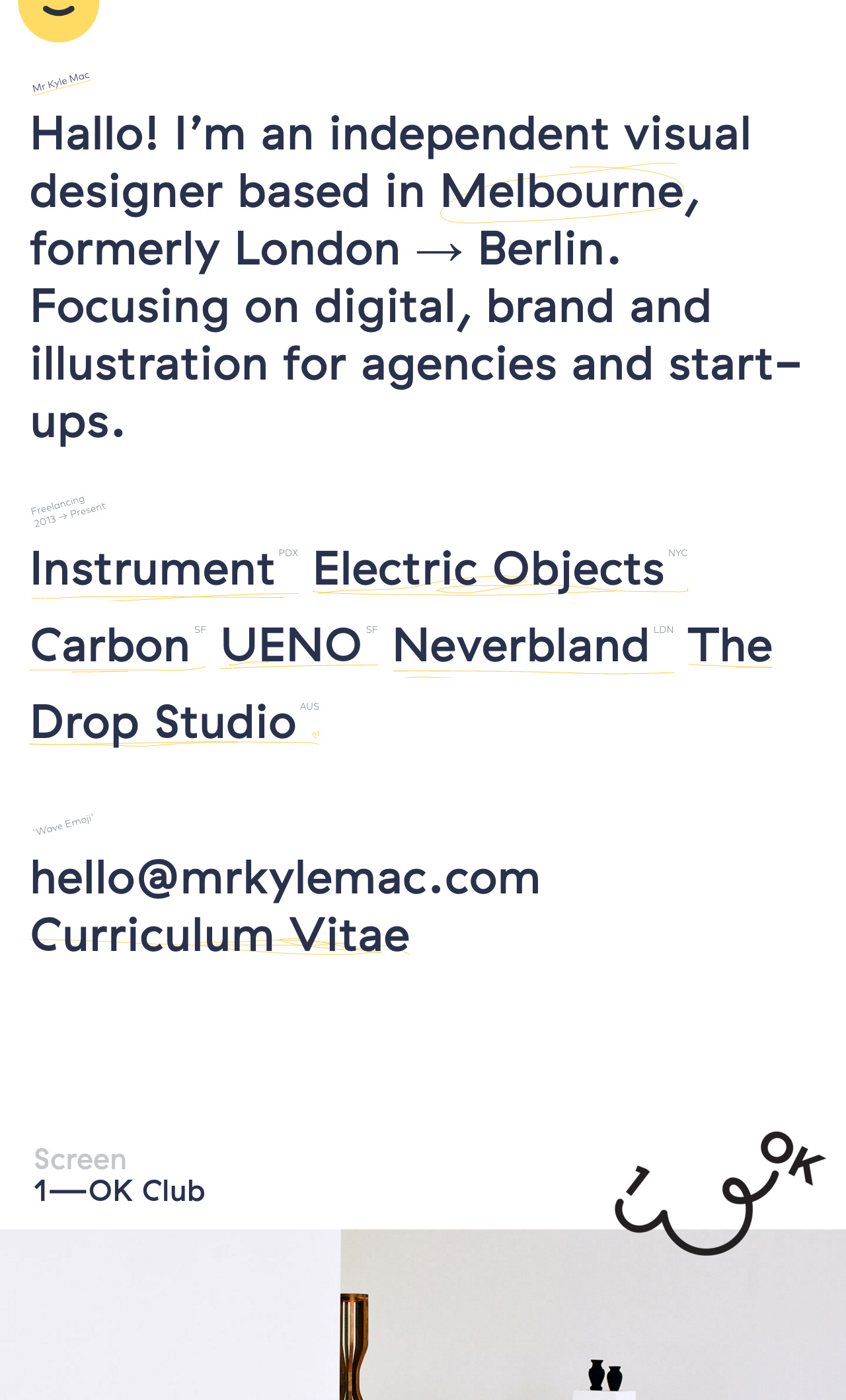 Kyle Mac Website Screenshot