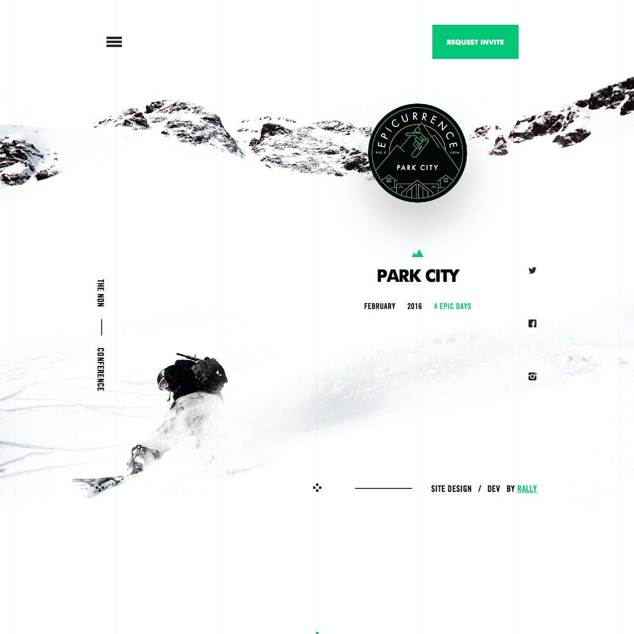 Epicurrence No.3 Website Screenshot