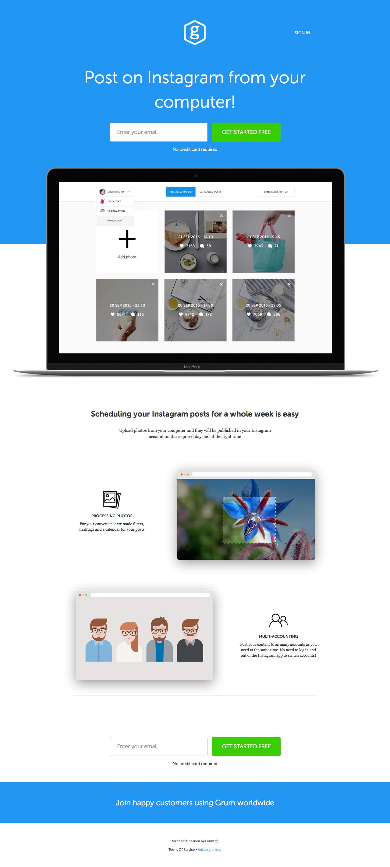 Grum Website Screenshot