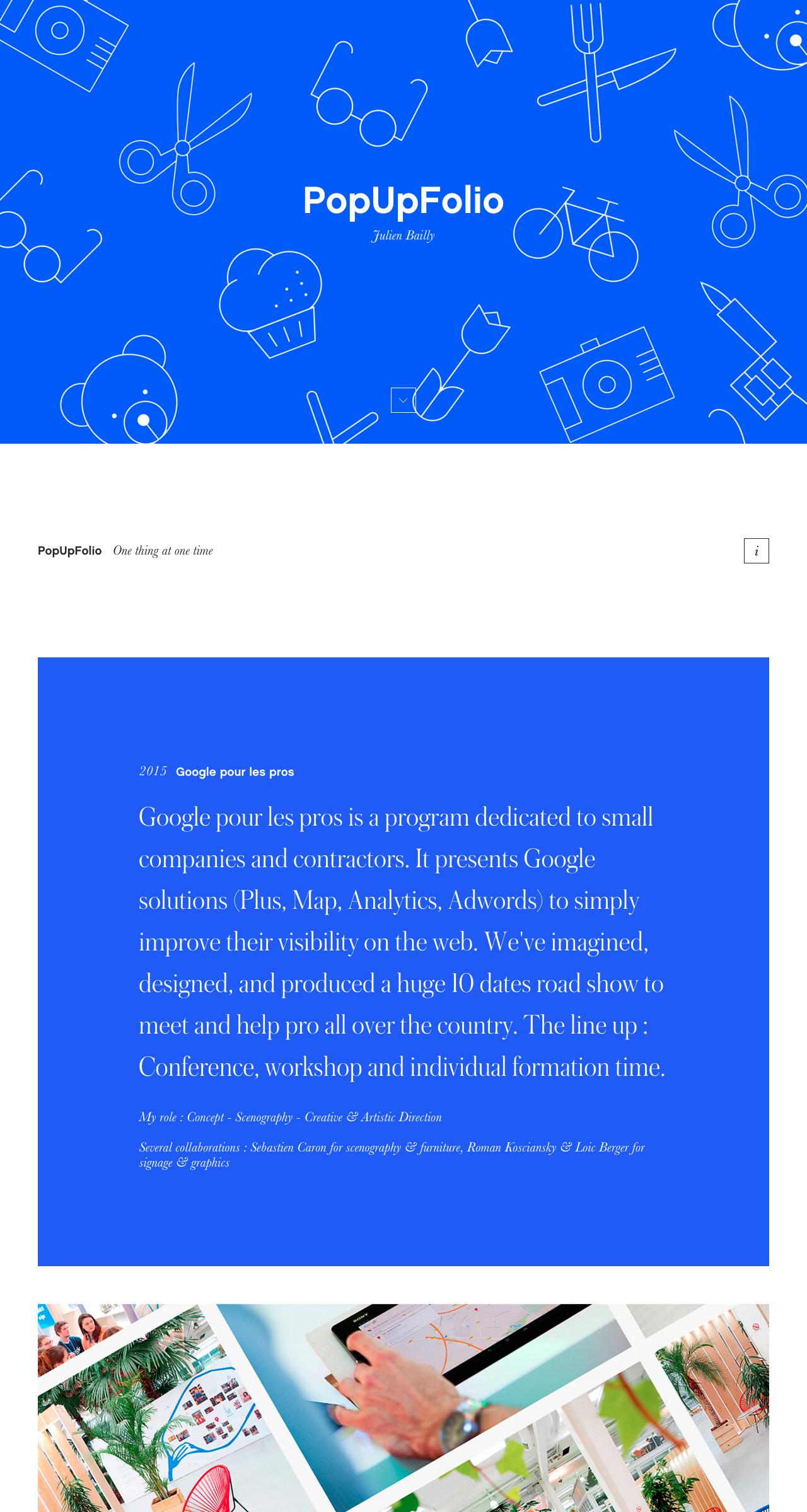 Julien Bailly Website Screenshot